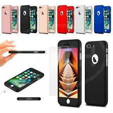 """For Apple iPhone 7 Plus (5.5"""") - 360 Hard Case Full Front Back & Tempered Glass"""