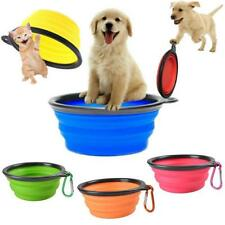 New Collapsible Dog Cat Pet Silicone Travel Feeding Bowl Food Water Dish Feeder