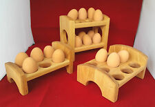 egg bed tray storage solid oak container box