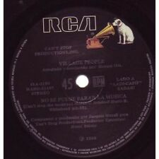 """VILLAGE PEOPLE Can't Stop The Music 7"""" VINYL Argentinian Rca 1980 (41A3198)"""