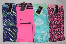 NWT UNDER ARMOUR YOUTH GIRL'S FITTED CAPRI HEATGEARLEGGINGS, SIZE:YMD, YLG & YXL