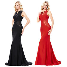 Lace Mermaid Long Pageant Evening Prom Dress Wedding Formal Party Dresses