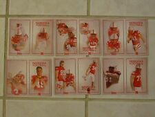 31) 2011-2017 NEBRASKA CORNHUSKERS HUSKERS POCKET SCHEDULE CARDS