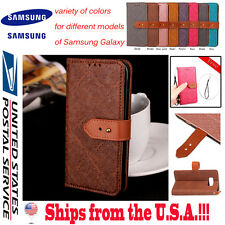 Leather Buckle Flip Case Wallet Cover Stand Protector For Samsung Galaxy Models