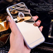 Luxury Ultra-thin TPU Mirror Metal Case Protective Cover For iPhone 6 6S 7 Plus