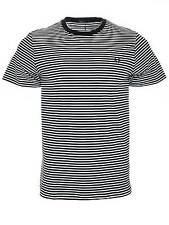 Mens Fred Perry T-Shirt   Fine Stripe   M1555   Navy