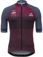 Santini Dark Red 2017 Giro Ditalia Stage 16 Rovetta-Bormio Short Sleeved Cycling