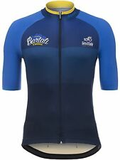 Santini Blue Giro Ditalia Stage 11 Bartali Short Sleeved Cycling Jersey