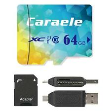 Caraele TF Micro SD Flash Memory Card Storage + Card Reader Adapter 64GB-128GB