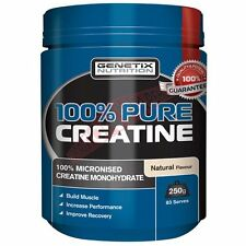 Genetix Nutrition 100% PURE CREATINE SUPPLEMENT Natural - 250g, 500g Or 1Kg