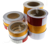 1x Self-Adhesive Roll Reflective Tape for Vehicles Mining Safety Warning Caution