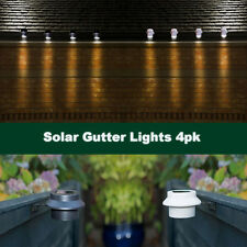 4 x Solar Powered  LED Gutter Lights Outdoor Garden Wall Fence Roof Path Pathway