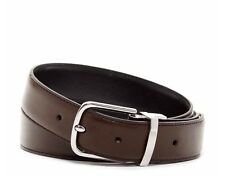 COLE HAAN LEATHER BELT FLAT STITCHED EDGE REVERSIBLE BELT NEW WITH TAGS