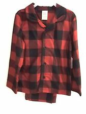 FADED GLORY - BOYS XS(4-5) S(6-7) PREMIUM 2PC SLEEPWEAR OUTFIT Red Plaid