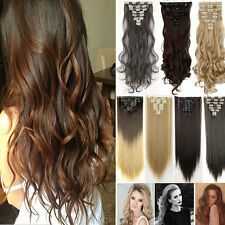 US Real as remy human hair Long Clip in Hair Extensions Full Head Double Weft
