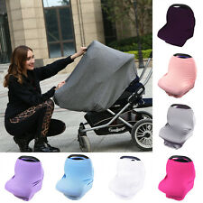 Multi-Use Stretchy Newborn Infant Nursing Cover Baby Car Seat Canopy Cart Cover