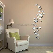 Modern Style Self Adhesive Mirror Wall Decal Sticker Home Living Room Decoration