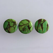 23MM Round Shape, Green Copper Turquoise Calibrated Cabochons AG-228