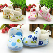 1Pair Baby Soft Sole Warm Cute Boy Shoes Boots Girls Infant Toddler Winter Ankle