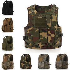 Mens Swat Tactical Vest Military 600D Oxford Field Battle Combat Assault Hunting