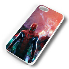 SPIDERMAN SPACE ART RUBBER PHONE CASE COVER FITS IPHONE 4 5 6 7 (#WR)
