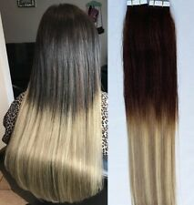 """18"""",20""""(100g,40pc),BALAYAGE Ombre 100% Human Tape In Hair Extensions T2-18/613"""
