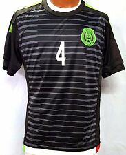 New! Black Jersey R. Marquez #4 Mexico Away Soccer Jersey