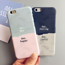 couple Acrylic Lovers Colors Collision Case Cover For iPhone 6 6S 7 Plus