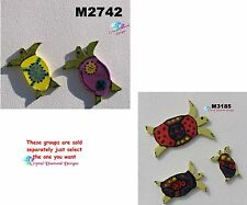 "TURTLES - HANDMADE CERAMIC MOSAIC TILES use in your Project( 1/4"" thick) #2"