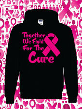 Together we find the cure, black hoodie pink ribbon,cancer week,cancer awareness