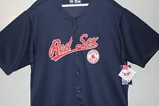 2017  NAVY  Boston Red Sox MLB Authentic Sewn Patch Button Down Jersey Brand New