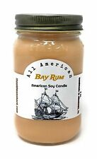 Bay Rum - Pure Soy Candle - Hand Poured In Mason Jar - SHIPS FREE