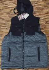 MACHINE MENS THICK PADDED ZIP-UP VEST JACKET W/REMOVABLE HOOD LIST $60