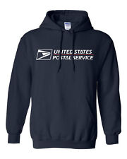 USPS POSTAL HOODIE HOODED SWEATSHIRT WITH POSTAL LOGO ON CHEST All Sizes S-XXXL