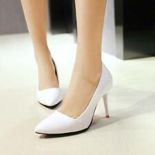 Womens Pointed Toe Pumps Stiletto Heel Slip On Summer OL Dress Shoes All size