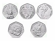 Beatrix Potter 50p UNCIRCULATED Puddle Duck Tiggy Winkle Squirrel Nutkin Peter