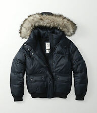 Womens Abercrombie & Fitch Fleece Quilted Hoodie Puffer Jacket Size L, XL, £180