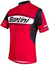 Santini Red Tau Short Sleeved Cycling Jersey