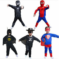 Boy Kid Superhero Spider-Man Batman Cosplay Funny Dress Costume Halloween Outfit