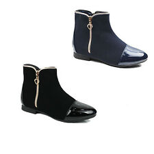 WOMENS LADIES CHELSEA STYLE ZIP UP ANKLE BOOT BOOTIES SHOES SIZE 3-8