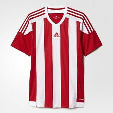adidas Performance STRIPED15 MENS FOOTBALL JERSEY,RED/WHITE-Size S,M,L,XL Or 2XL
