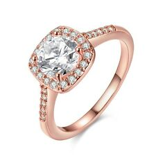 Women's Rings Fashion Jewelry 18K Rose Gold Filled Luxury Gift