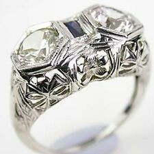 Women Jewelry 925 Silver 2.5Ct White Topaz Wedding Engagement Ring Size 6-10