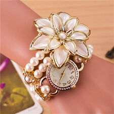 White Flower Quartz Watches 1Pcs Luxury Wrist Watch Ladies Wrist Hot Sale