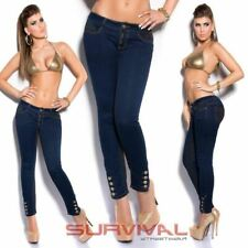 Womens NEW Skinny Jeans Navy Blue Stretch Denim Pants Sexy Low Rise Designer