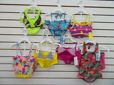 Girls Waves Assorted 2pc Swimsuits Size 5/6 - 10/12