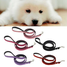120cm Length Durable Flocking Leather Dog Pet Cat Long Leash Lead Traction Rope