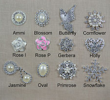 10 Pack of Large Pearl and Diamante Wedding Embellishments