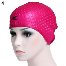Swimming Long Hair Bubble Cap Ear Wrap Waterproof Hat for Women and Men Astute