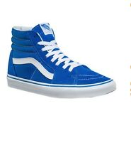 NEW! Vans Sk8-Hi Top Sneaker Skate Shoes Imperial Blue White Canvas s1